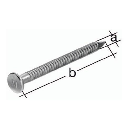 Ankernagel bauaufsichtlich zugelassen D.4,0x60mm Stahl roh verzinkt