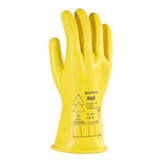 Ansell Elektriker Handschuh-Paar E014Y, 1000 V AC, Handschuhgröße: 9