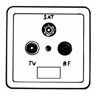 Antennensteckdose UP, TV/RF/SAT EUROPA arkt,ws