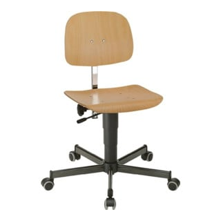 Arbeitsdrehstuhl Fit m. Rollen Buche Sitz-H.430-600mm BIMOS
