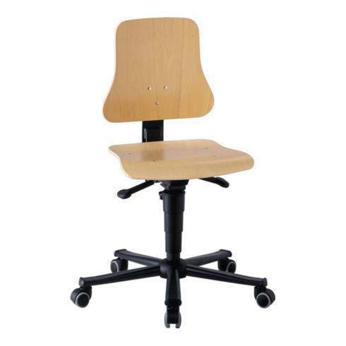 Arbeitsdrehstuhl Solitec m.Rollen Buche Sitz-H.440-590mm BIMOS