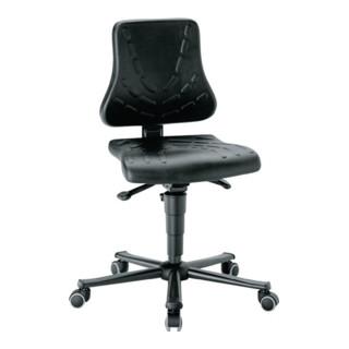 Arbeitsdrehstuhl Solitec m.Rollen Integralschaum Sitz-H.440-590mm BIMOS