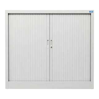Armoire à rideaux STIER Basic avec 2 tablettes 1070x1200x450mm, gris clair