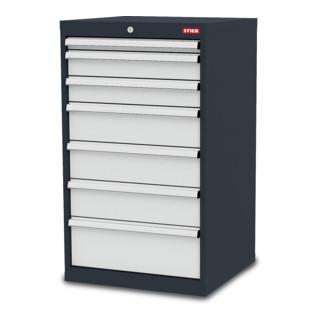 Armoire à tiroirs STIER avec 7 tiroirs LxPxH 600x575x1020 mm y compris le jeu de séparation