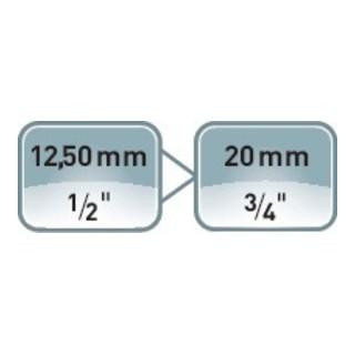 ASW Vergrößerungsstück 1/2 Zoll auf 3/4 Zoll 4 KT L. 48 mm f.Kraftsteckschl.Einsätze