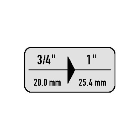 ASW Vergrößerungsstück 3/4 Zoll auf 1 Zoll 4 KT L. 63 mm f.Kraftsteckschl.Einsätze
