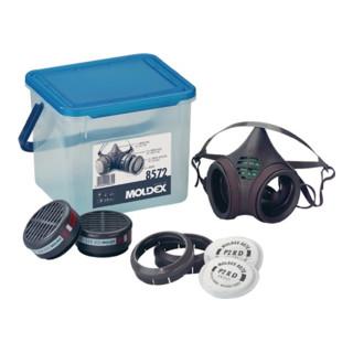 Atemschutzbox 8572 A2P2RD 1xHalbmaske 8002 2Halterungen 8090 MOLDEX 4Filter