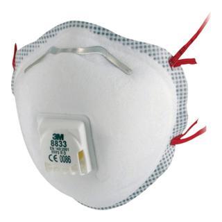 Atemschutzmaske 8833 FFP3NRD b.30xAGW-Wert 3M EN149:2001+A1:2009