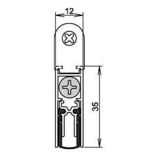 Athmer OHG  Doppeldicht Türdichtung M12/35 Nr. 1-392 Auslösung 1-seitig Länge Alu.