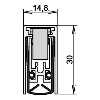 Athmer OHG Schall-Ex Türdichtung L-15/30 WS Nr.1-880 Auslösung 1-seitig Alu.