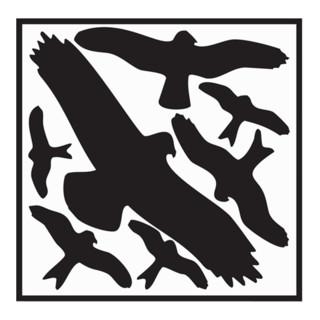 Aufkleber Vogelschutzset Vogelsymbole B.320xH.290mm Folie selbstklebend