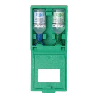 Augenspülstation DUO Wandbox 2 x0,5l (ph Neutral + NaCL) PLUM integr. Spiegel