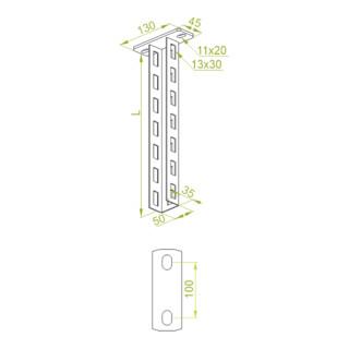 Baks Ausleger Höhe 130 mm