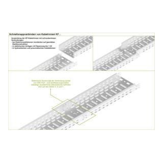 Baks Kabelrinne Blechstärke 0,7 mm Seithöhe 60 mm Länge 2 m