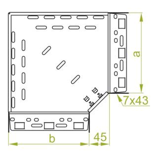 Baks Winkel für Kabelrinne Blechstärke 1 mm Seitenhöhe 60 mm 90°