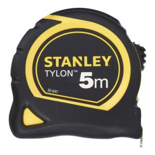 Bandmaß Tylon Länge 5m robustes Kunststoffgehäuse schlagfest gerippt Stanley