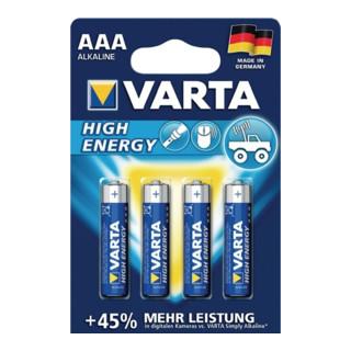Batterie Alkaline Kapaz. 1240 mAh Äquivalenz AAA-AM4-Micro 1,5V High Energy