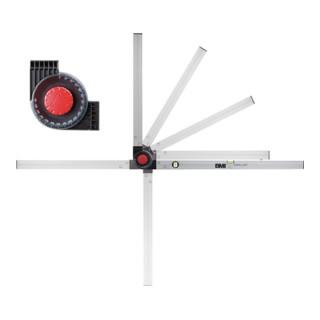Bauwinkel WINKELSTAR Schenkel-L. 80x60 cm 0-180Grad m. Wasserw. Alu. BMI