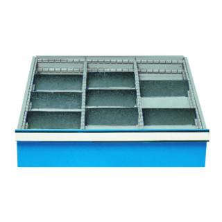 Bedrunka+Hirth Einteilungssortiment für Schubladen Serie 700, 3 x Metalleinteilung