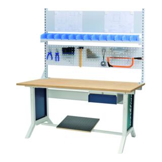 Bedrunka+Hirth Workline-Arbeitstisch (höhenverstellbar) mit Klemmfeststellung, BxTxH 1500x750x735-1100 mm