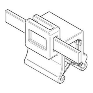 Befestigungsbinder m. Edgeclip PA66HS schwarz 4,6 x 150 S-A S