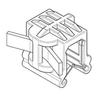 Befestigungsbinder m. Edgeclip PA66HS schwarz 4,6 x 200 S-A S