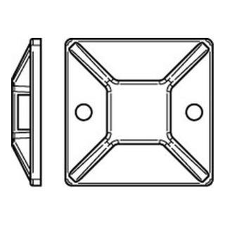 Befestigungssockel PA66 natur 28 x 28 B= max. 5,4 S