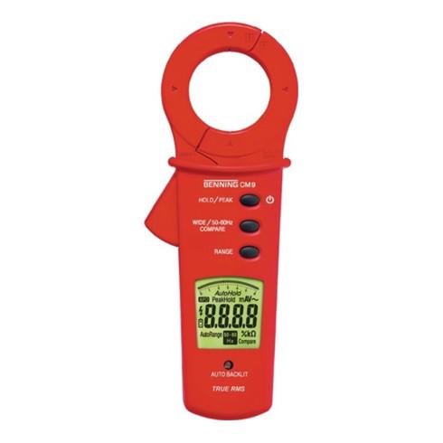 BENNING Leckstromzange CM 9 Messber.1 µA-100 A AC Zangenöffnung max.40mm