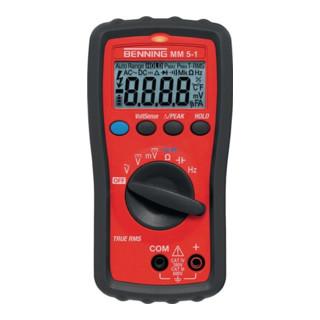 BENNING Multimeter MM 5-1 0,0001-600 V AC/DC Spannungs/Durchgangsprüf.