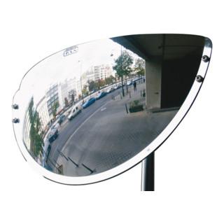 Beobachtungsspiegel innen u.außen H300xB600xT100mm Ku.180Grad Blick m.Halterung
