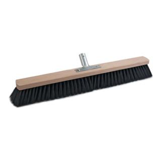 Besen Qualitätsmischung PVC m.Metallstielhalter Flachholz L.600mm SOREX