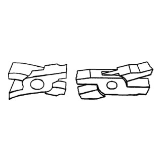 Bessey Falzzange 45° gebogen (PVC-beschichtete Griffe) D341-60-P