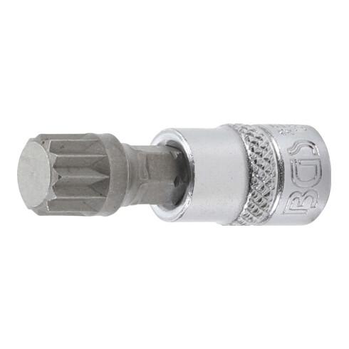 """BGS Bit-Einsatz Antrieb Innenvierkant 6,3 mm (1/4"""") Innenvielzahn (für XZN) M10"""