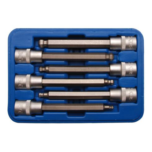 BGS Bit-Einsatz-Satz Antrieb Innenvierkant 12,5 mm (1/2 Zoll) Innensechskant mit Kugelkopf 5 - 12 mm 6 teilig