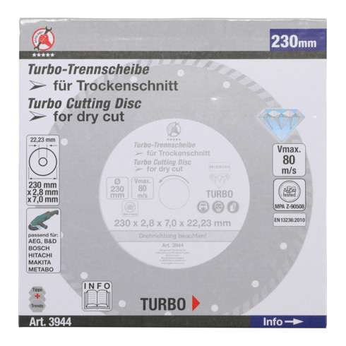 BGS Do it yourself Turbo-Trennscheibe