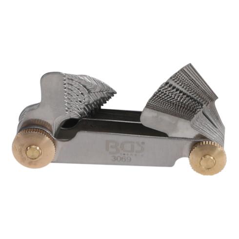 BGS Doppel-Gewindeschablone, 52 Blatt metrisch 0,25 - 6,0 mm, Whitworth 4G - 62G