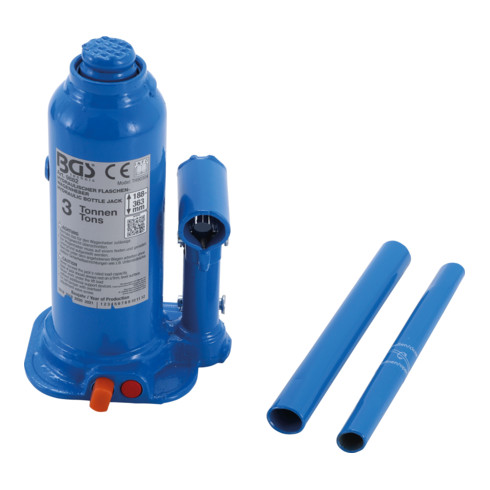 BGS Hydraulischer Flaschen-Wagenheber 3 t