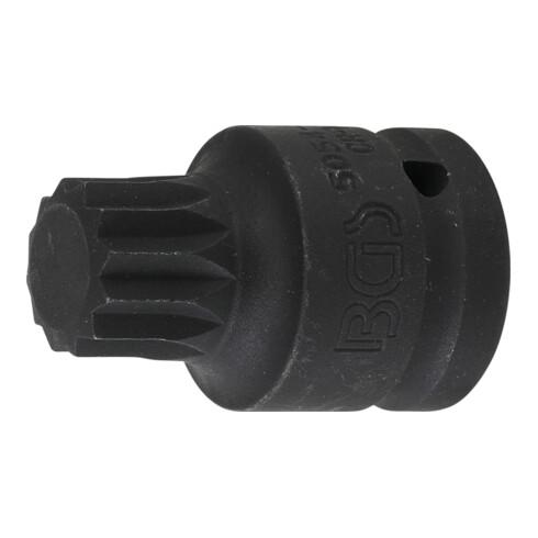 """BGS Kraft-Bit-Einsatz Antrieb Innenvierkant 20 mm (3/4"""") Innenvielzahn (für XZN) M24"""