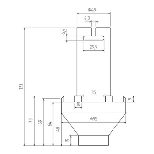 BGS Nutmutter-Einsatz für Mercedes-Benz Atego 80 - 95 mm