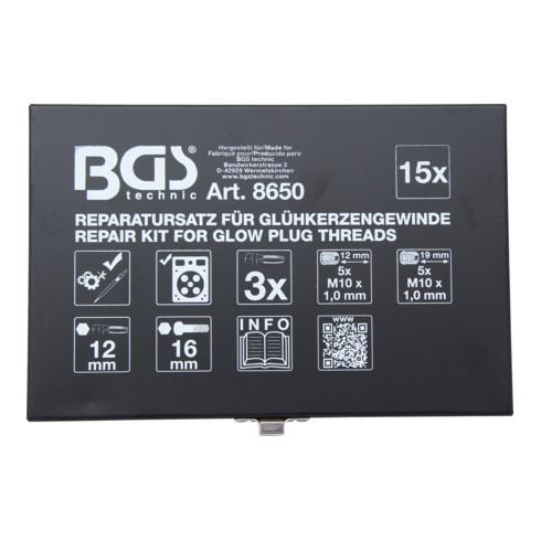 BGS Reparatursatz für Glühkerzengewinde M10 x 1,0