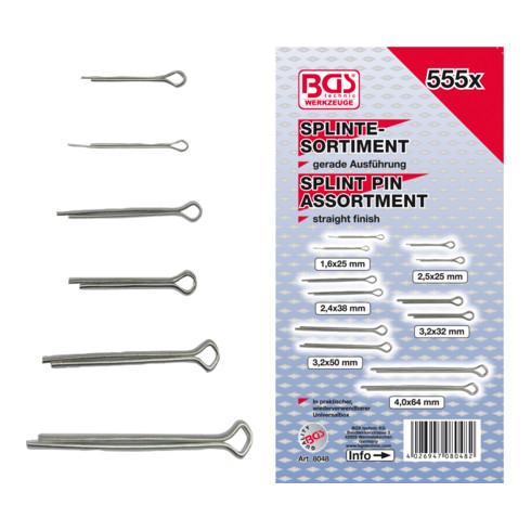 BGS Splinte-Sortiment Ø 1,6 - 4,0 mm 555-tlg.