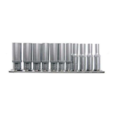 """BGS Steckschlüssel-Einsatz-Satz Sechskant, tief Antrieb Innenvierkant 6,3 mm (1/4"""") Zollgrößen 11-tlg."""