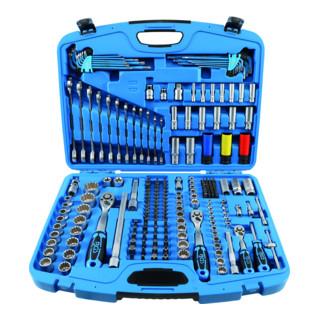 BGS Steckschlüssel-Satz ''Gear Lock'', 6,3, 10 und 12,5 mm Antrieb, 218-teilig