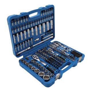 """BGS Steckschlüssel-Satz Sechskant, Antrieb 6,3 mm (1/4""""), 10 mm (3/8""""), 12,5 mm (1/2""""), 192-teilig"""