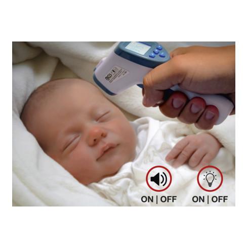 BGS Stirn-Fieber-Thermometer für Personen und Objekt-Messung 0 - 100°C, kontaktlos, Infrarot