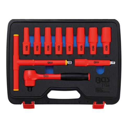 BGS VDE-Steckschlüssel-Satz Antrieb Innenvierkant 12,5 mm (1/2 Zoll) SW 10 - 24 mm 11 teilig