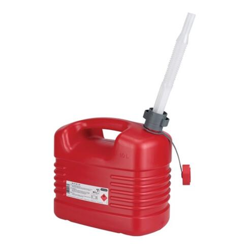 Bidon p. carburant contenu 10 l L. 329 x l. 195 x H. 319 mm rouge