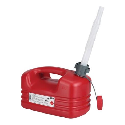 Bidon p. carburant contenu 5 l long. 331 x l. 185 x H. 237 mm rouge