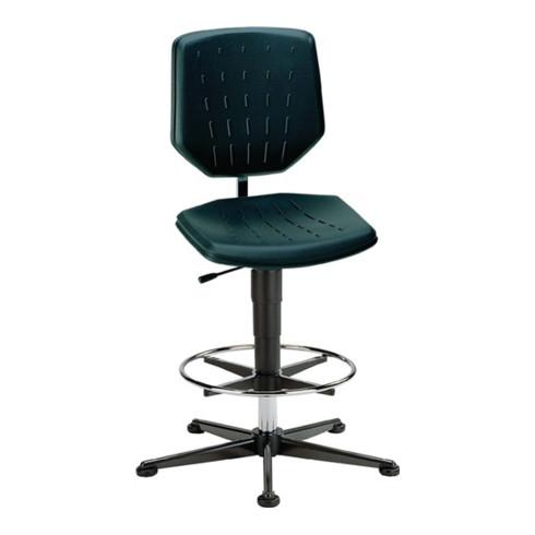 bimos Arbeitsdrehstuhl Fit m.Gleitern,Fußring Kunstleder Sitz-H.590-910mm