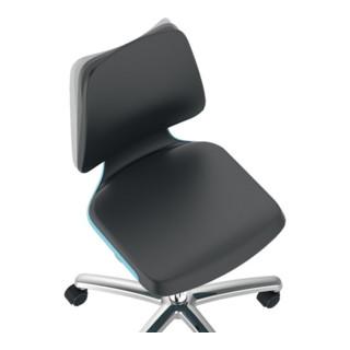 bimos Arbeitsdrehstuhl Labsit m.Gleitern/Fußring Supertec Sitzschale blau Sitzhöhe 520